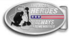 Ace Recognition Gold Buckle - with your text and logo - Military - Fallen Soldier Memorial - Iraq - American Flag - American Heroes - Always Remembered, metal