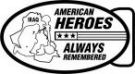 Ace Recognition Gold Buckle - with your text and logo - Military - Fallen Soldier Memorial - Iraq - American Flag - American Heroes - Always Remembered, metal, navy
