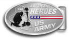 Ace Recognition Gold Buckle - with your text and logo - Military - Fallen Soldier Memorial - Iraq - American Flag - American Heroes - US Army, metal, navy