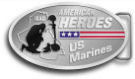 Ace Recognition Gold Buckle - with your text and logo - Military - Fallen Soldier Memorial - Iraq - American Flag - American Heroes - US Marines, metal, navy