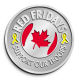 Ace Recognition Gold Coin, Lapel, Plaque - with your text and logo - Military - Canada - Support Our Troops - Maple leaf and ribbon - Red Fridays, metal, navy
