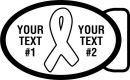 Awareness - ribbon - your text, metal