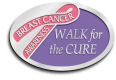 Awareness - ribbon - breast cancer - walk for the cure, metal