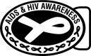 Awareness - ribbon - aids and hiv awareness, metal