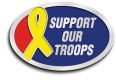 Ace Recognition Gold Buckle, Crest, Lapel, Plaque - with your text and logo - Military - Support our troops - ribbon, metal, navy