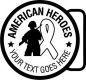 Military - American Heroes - star - Soldier - ribbon, metal, navy