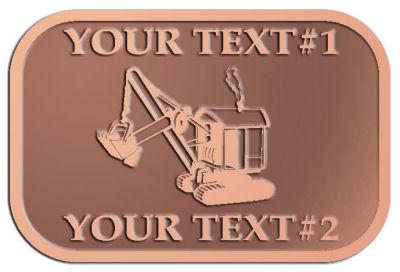 Custom Plaque - customized and personalized your way - diggers, excavators, excavation, excavation equipment, excavation machines, excavation machinery, digger tractors, crawler excavators