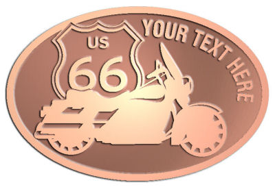 Custom Crest - customized and personalized your way - Motorcycle Designs - US 66 - route 66 -   chopper, motorcycle - your text, motorcycles, motor bikes, racing, motor, motorsports, motor-sports, transportation, metal