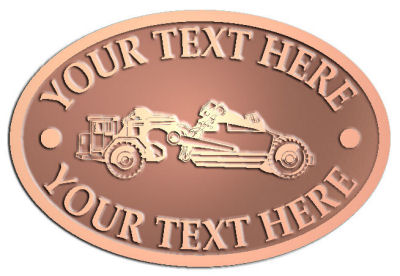 Custom Crest - customized and personalized your way - road grader, mining equipment, grader, heavy equipment, earthmovers, earth movers