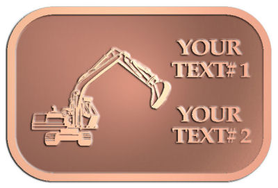 Custom Plaque - customized and personalized your way - diggers, excavators, excavation, excavation equipment, excavation machines, excavation machinery, digger tractors, crawler excavators