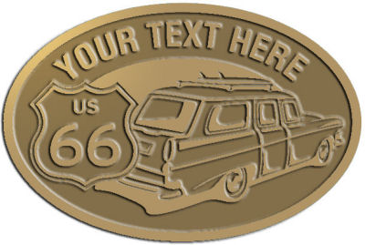 Custom Crest - customized and personalized your way - Car designs - US route 66 - vintage cars - classic cars - corvette - sports car - your text, route 66, route sixty six, route sixty-six, historic highway, historic road, mother road, transportation