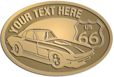 Custom Crest - customized and personalized your way - Car designs - US route 66 - vintage cars - corvette - classic cars - sports car - your text, route 66, route sixty six, route sixty-six, historic highway, historic road, mother road, transportation