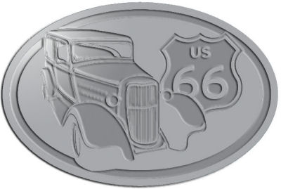 Custom Crest - customized and personalized your way - Car designs - US route 66 - vintage cars - classic cars - coupe - roadster - your text, route 66, route sixty six, route sixty-six, historic highway, historic road, mother road