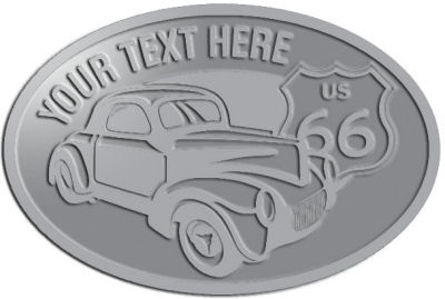 Custom Crest - customized and personalized your way - Car designs - US route 66 - vintage cars - classic cars - coupe - your text, route 66, route sixty six, route sixty-six, historic highway, historic road, mother road, transportation