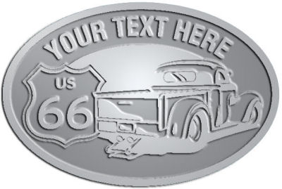 Custom Crest - customized and personalized your way - Truck designs - US route 66 - vintage trucks - classic trucks - trucks - pickup - your text, route 66, route sixty six, route sixty-six, historic highway, historic road, mother road