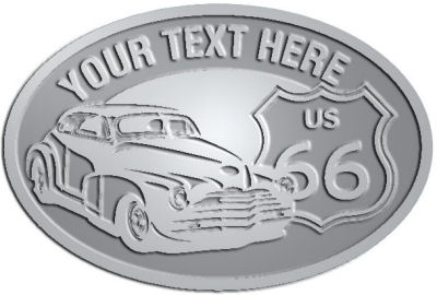 Custom Crest - customized and personalized your way - Car designs - US route 66 - vintage cars - classic cars - sports car - hot rod - your text, route 66, route sixty six, route sixty-six, historic highway, historic road, mother road