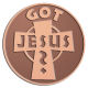 Ace Recognition Copper Coin, Lapel, Plaque - with your text and logo - Christian - Jesus - Got Jesus - cross - love - faith - religion  religious, metal