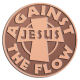 Ace Recognition Copper Coin, Lapel, Plaque - with your text and logo - Christian - Jesus - against the flow - cross - love - faith - religion  religious, metal