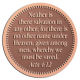 Ace Recognition Copper Coin, Lapel, Plaque - with your text and logo - Christian Designs - Neither is there salvation in any other: for there is none other name under heaven given among men, whereby we must be saved.  Acts 4:12  religious