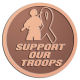 Ace Recognition Copper Coin, Lapel, Plaque - with your text and logo - Military - Support our troops - soldier - ribbon, metal, navy