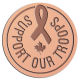 Ace Recognition Copper Coin, Lapel, Plaque - with your text and logo - Military - Support our troops - ribbon - maple leaf - Canada, metal, navy