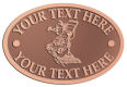 Ace Recognition Copper Crest, Lapel, Plaque - with your text and logo - landscapers, landscaping, lawn technicians, lawn service, yard maintenance, gardening, rakes, watering cans, lawn mowers, garden shears, landscape design