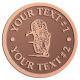 Ace Recognition Copper Coin, Lapel, Plaque - with your text and logo - Sports, mascots, sports, tigers, teams, high school, college, university
