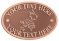 Ace Recognition Copper Crest, Lapel, Plaque - with your text and logo - Sports, mascots, sports, birds, teams, high school, college, university