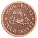 Ace Recognition Copper Coin, Lapel, Plaque - with your text and logo - Sports, mascots, sports, animals, bull dogs, canines, teams, high school, college, university