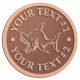 Ace Recognition Copper Coin, Lapel, Plaque - with your text and logo - Sports, mascots, sports, fish, sea creatures, sharks, teams, high school, college, university
