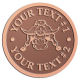 Ace Recognition Copper Coin, Lapel, Plaque - with your text and logo - Sports, mascots, sports, animals, longhorns, bulls, teams, high school, college, university