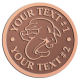 Ace Recognition Copper Coin, Lapel, Plaque - with your text and logo - Sports, mascots, sports, sea creatures, dolphins, fish, teams, high school, college, university