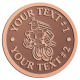 Ace Recognition Copper Coin, Lapel, Plaque - with your text and logo - Aliens, ufos, robots
