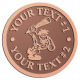 Ace Recognition Copper Coin, Lapel, Plaque - with your text and logo - Cavemen, caveman, prehistoric, primal