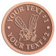 Ace Recognition Copper Coin, Lapel, Plaque - with your text and logo - Sports, mascots, insects, flies, bees, wasps, high school, college, university