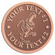 Ace Recognition Copper Coin, Lapel, Plaque - with your text and logo - Sports, mascots, dinosaurs, high school, college, university