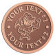 Ace Recognition Copper Coin, Lapel, Plaque - with your text and logo - Sports, mascots, sharks, high school, college, university