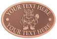 Ace Recognition Copper Crest, Lapel, Plaque - with your text and logo - Sports, mascots, vikings, norsemen, high school, college, university