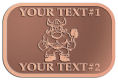 Ace Recognition Copper Crest, Lapel - with your text and logo - Sports, mascots, vikings, norsemen, high school, college, university