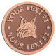 Ace Recognition Copper Coin, Lapel, Plaque - with your text and logo - Sports, mascots, animals, high school, college, university