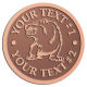 Ace Recognition Copper Coin, Lapel, Plaque - with your text and logo - Sports, mascots, bears, grizzlies, high school, college, university