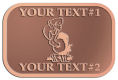 Ace Recognition Copper Crest, Lapel - with your text and logo - Sports, mascots, birds, buzzards, high school, college, university