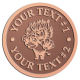 Ace Recognition Copper Coin, Lapel, Plaque - with your text and logo - Sports, mascots, lions, cats, high school, college, university