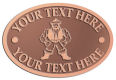 Ace Recognition Copper Crest, Lapel, Plaque - with your text and logo - Sports, mascots, martial arts, warriors, high school, college, university