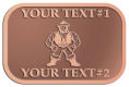Ace Recognition Copper Crest, Lapel - with your text and logo - Sports, mascots, martial arts, warriors, high school, college, university