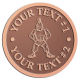 Ace Recognition Copper Coin, Lapel, Plaque - with your text and logo - Sports, mascots, soldiers, roman soldiers, high school, college, university
