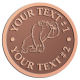 Ace Recognition Copper Coin, Lapel, Plaque - with your text and logo - Sports, mascots, gorillas,primates, high school, college, university