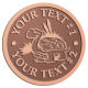 Ace Recognition Copper Coin, Lapel, Plaque - with your text and logo - Sports, mascots, turtles, amphibians, high school, college, university