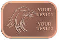 Ace Recognition Copper Crest, Lapel - with your text and logo - Sports, mascots, birds, eagles, hawks, ospreys, birds of prey, predators