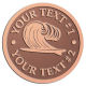 Ace Recognition Copper Coin, Lapel, Plaque - with your text and logo - waves, surfboard, surfing, surfers, surf, tropical, tropics, water, wind, boarding, dynamic, energy, sea, speed, splash, sport